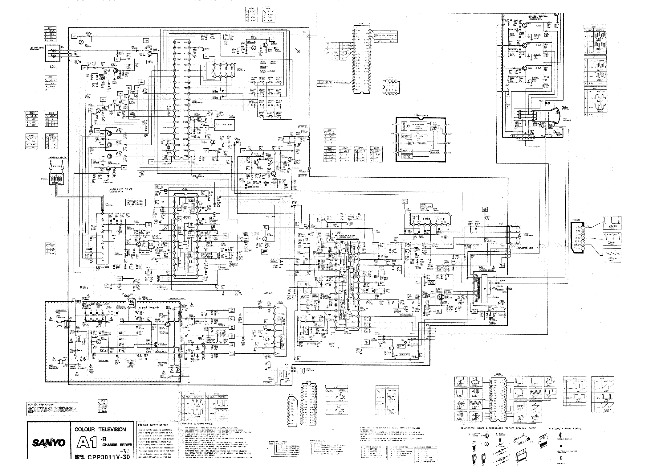 Sanyo Chassis A1b Cpp V30ab Sch Service Manual Download Schematics Eeprom Repair Info For