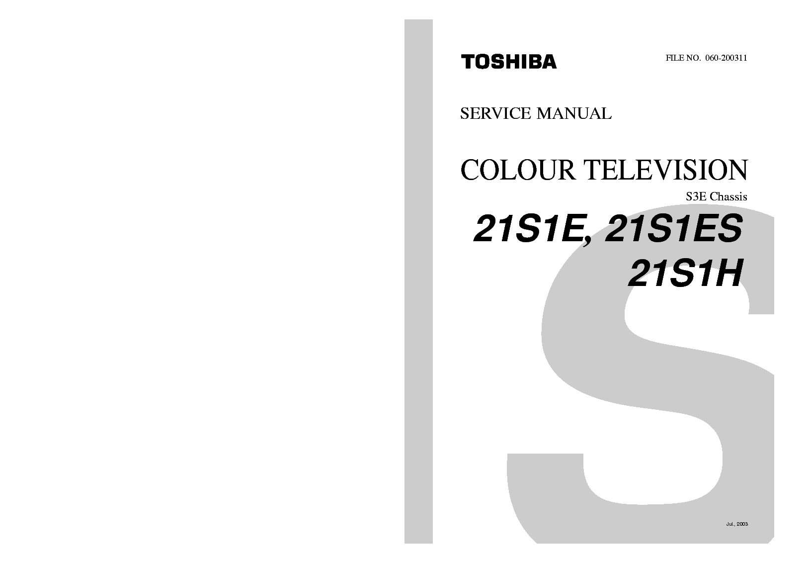 Toshiba Vtv Tv Vcr User Manual Service Manual Download