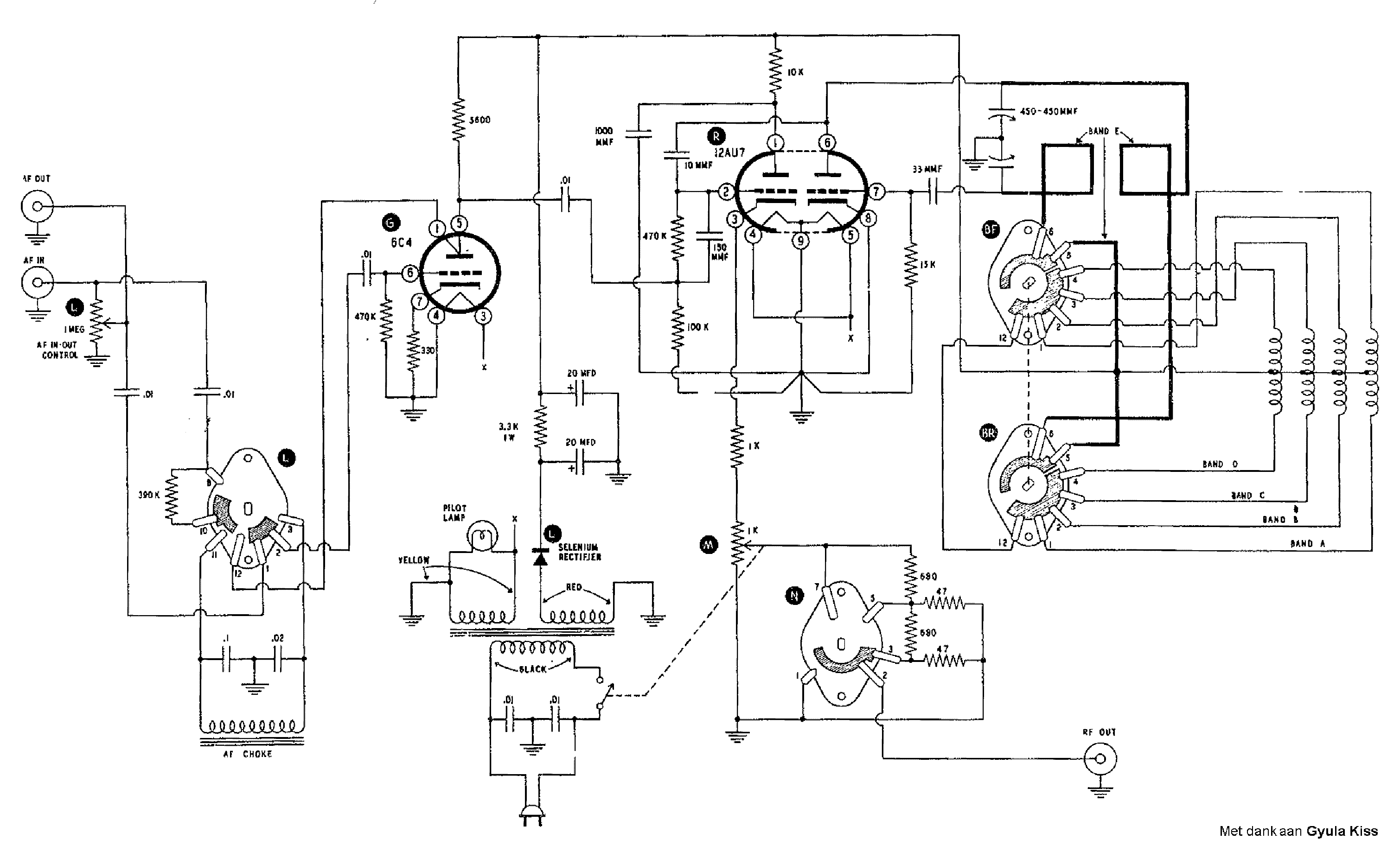 Heathkit Sg8 Signal Generator Sch Service Manual Download