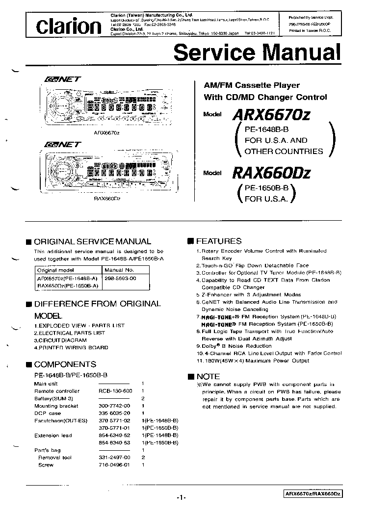 clarion_arx6670z_rax660dz.pdf_1?resize\\\\\\\=665%2C940\\\\\\\&ssl\\\\\\\=1 radio wiring harness diagram deh model 665 wiring diagram images 8911dpsg43v09 wiring diagram at reclaimingppi.co