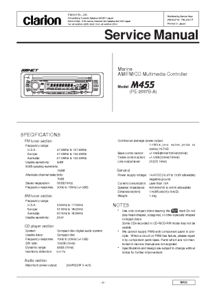 CLARION DRX6675RZ SM Service Manual free download