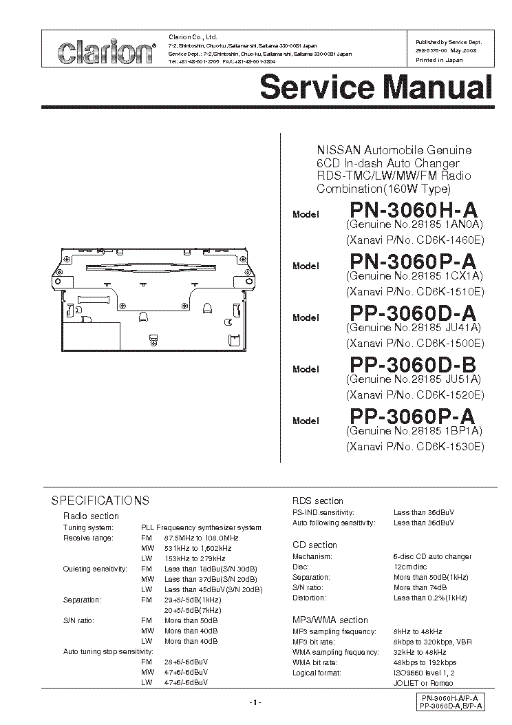 clarion_pn3060xx.pdf_1?resize\\\\\\\=665%2C941\\\\\\\&ssl\\\\\\\=1 clarion m109 wiring diagram on clarion images free download  at webbmarketing.co