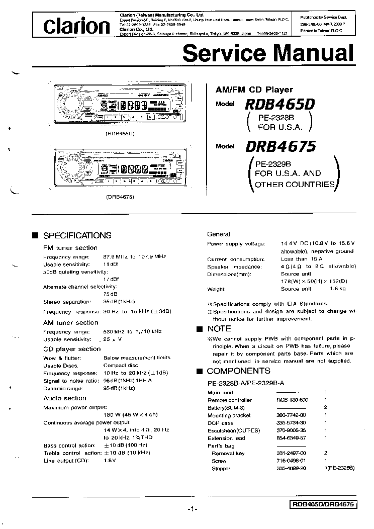 clarion_rdb465d_drb4675.pdf_1?resize\\\=665%2C940 clarion wiring diagram kenwood radio diagram, sony stereo wire  at gsmx.co