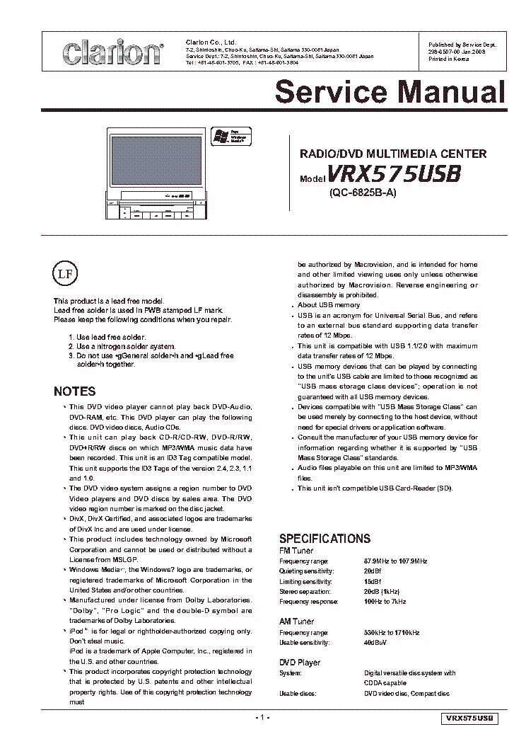 clarion_vrx575usb_sm.pdf_1?resize=665%2C939&ssl=1 clarion vrx485vd wiring diagram clarion wiring diagrams collection clarion dxz385usb wiring diagram at arjmand.co