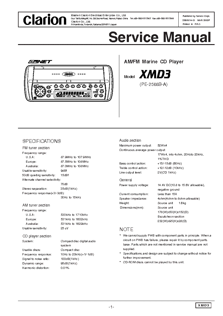 clarion_xmd3_sm.pdf_1?resize\\\=665%2C941\\\&ssl\\\=1 car stereo wiring diagram clarion dxz655mp wiring diagrams clarion dxz545mp wiring diagram at mifinder.co