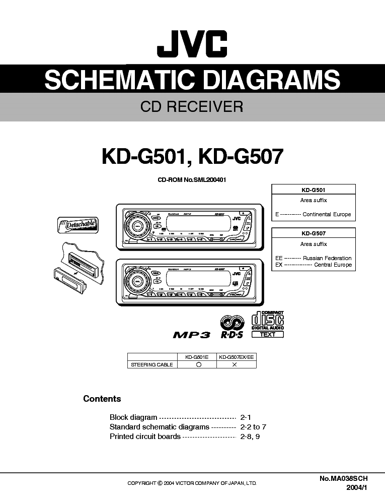 Jvc Kd G501 Kd G507 Service Manual Download Schematics