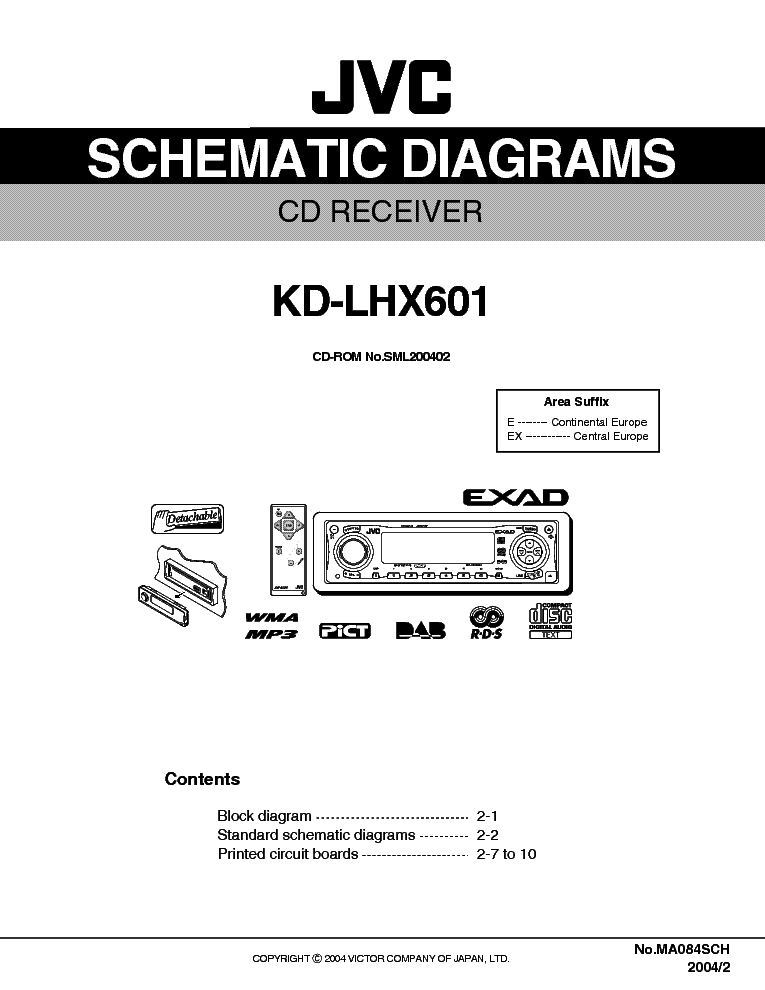 Jvc Kd Lhx601 Sch Service Manual Download Schematics