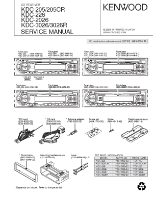 KENWOOD KDC205 KDC205CR KDC226 KDC2026 KDC3026 KDC3026R Service Manual download