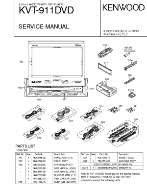 KENWOOD KVT911DVD Service Manual download, schematics