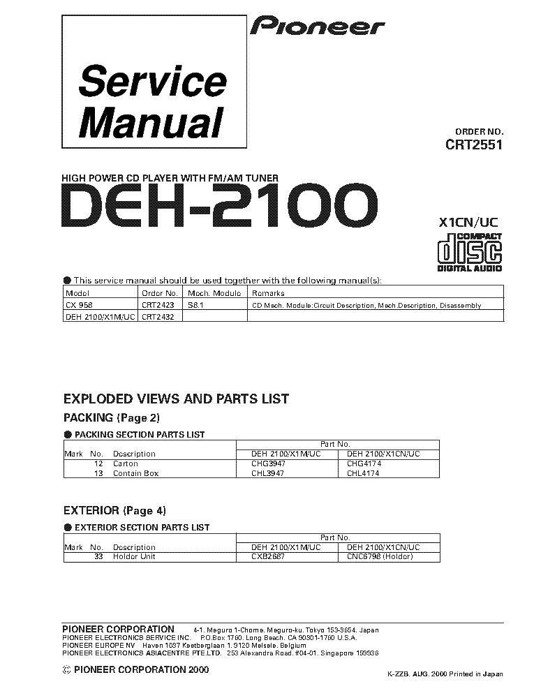 pioneer_deh 2100_crt2551_supplement.pdf_1?resize=665%2C861&ssl=1 pioneer deh 2100 wiring diagram dodge dakota stereo wiring pioneer deh p6400 wiring diagram at mifinder.co