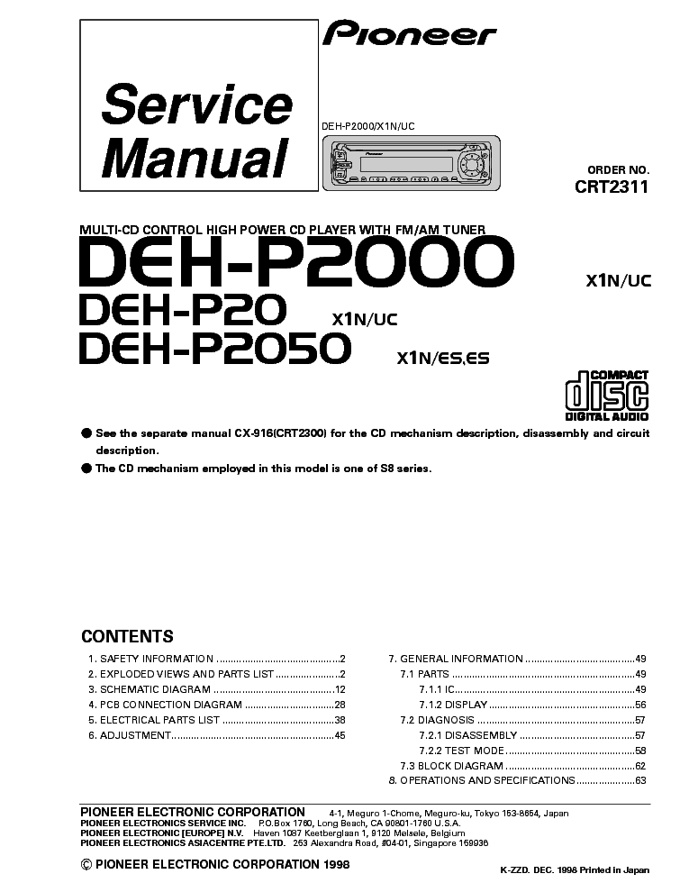 pioneer_deh p20_p2000_p2050_crt2311_sm.pdf_1?resize\=665%2C861\&ssl\=1 pioneer deh p2000 wiring diagram pioneer wiring diagrams collection  at webbmarketing.co