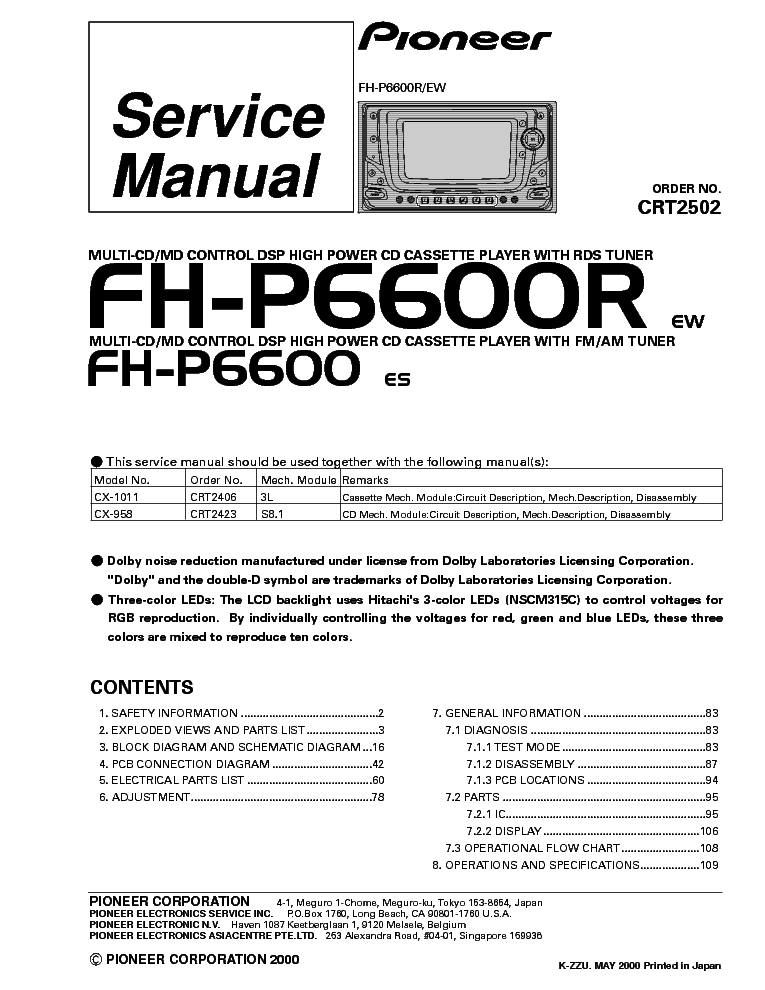 pioneer_fh p6600_r.pdf_1 pioneer deh 1200mp wiring diagram wiring wiring diagram instructions pioneer deh 1200mp wiring diagram at beritabola.co