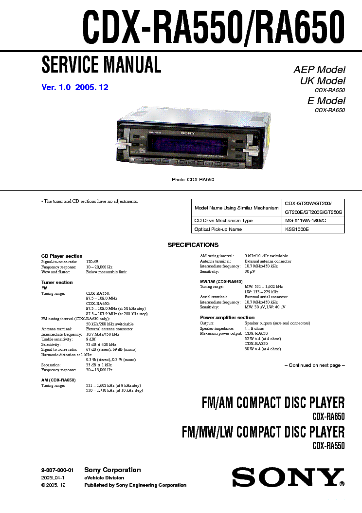 sony_cdx ra650.pdf_1?resize\=665%2C941 sony cdx gt07 wiring diagram sony xplod car stereo wiring diagram sony cdx-gt300 wiring harness at panicattacktreatment.co