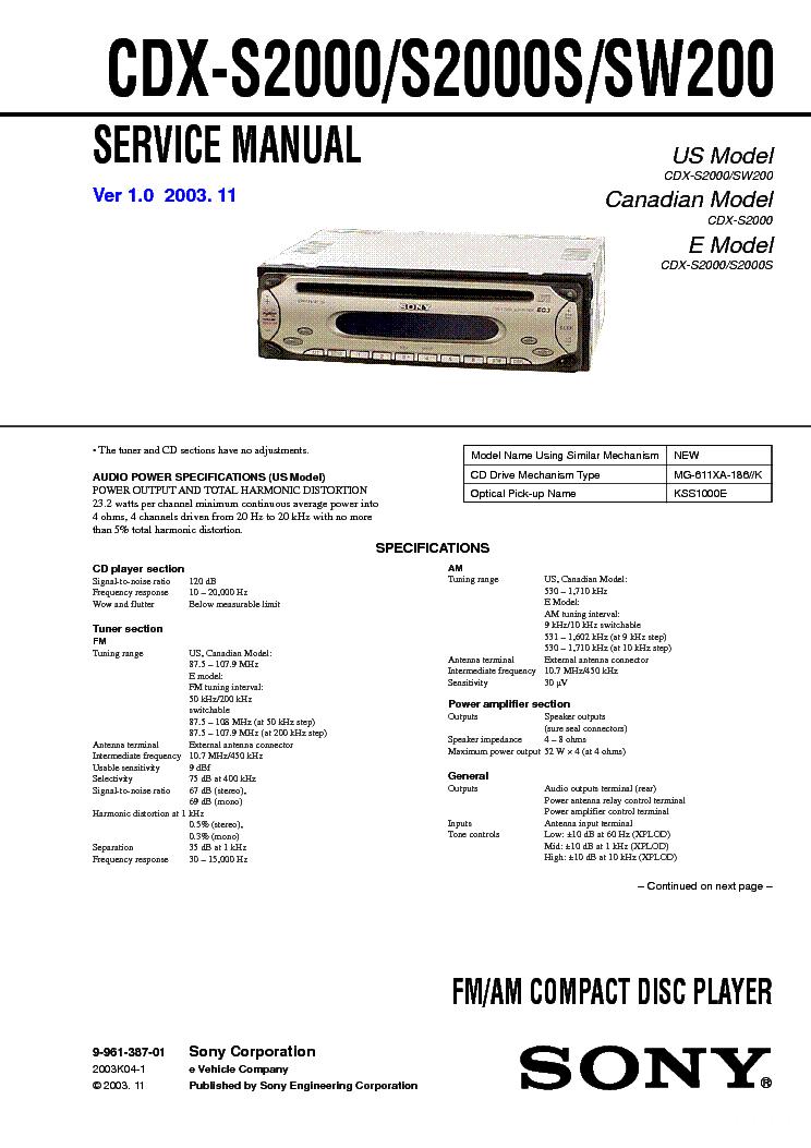 Best Sony Xplod Cd Player Wiring Diagram Ideas - Images for image .  sc 1 st  gojono.com : sony cdx gt300mp wiring diagram - yogabreezes.com