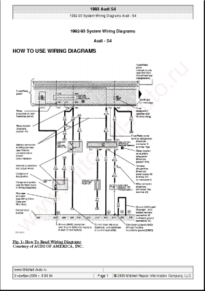 AUDI S4 1993 WIRING DIAGRAMS SCH Service Manual download