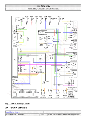 BMW 328IS 1996 WIRING DIAGRAMS SCH Service Manual download, schematics, eeprom, repair info for