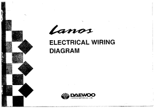 DAEWOO LANOS ELECTRICAL WIRING DIAGRAM Service Manual