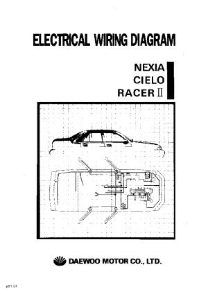 DAEWOO NEXIA CIELO RACER II ELECTRICAL WIRING DIAGRAM Service Manual download, schematics