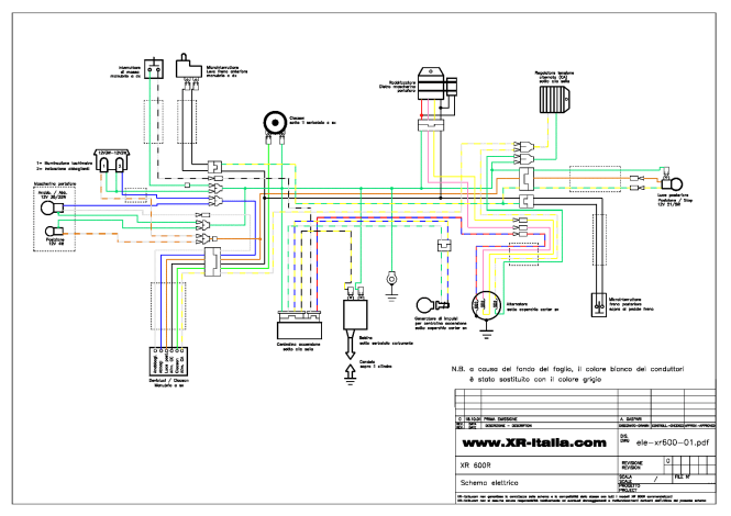 Xr600r Wiring Diagram. Battery Relocation Diagram, 6 Wire Cdi Box ...