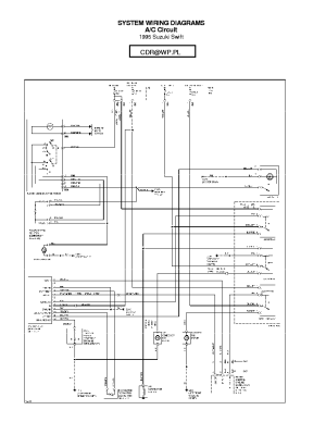 SUZUKI SIDEKICK WIRING DIAGRAM 95,96 SCH Service Manual