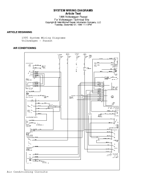VW PASSAT 1995 WIRING DIAGRAM Service Manual download