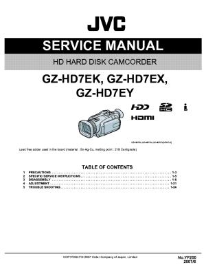 JVC GZHD7 EKEXEY YF200 SM Service Manual download