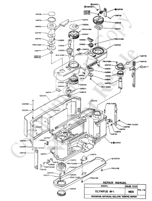 OLYMPUS OM1 EXPLODED PARTS DIAGRAM Service Manual