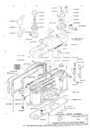 OLYMPUS OM30 EXPLODED PARTS DIAGRAM Service Manual