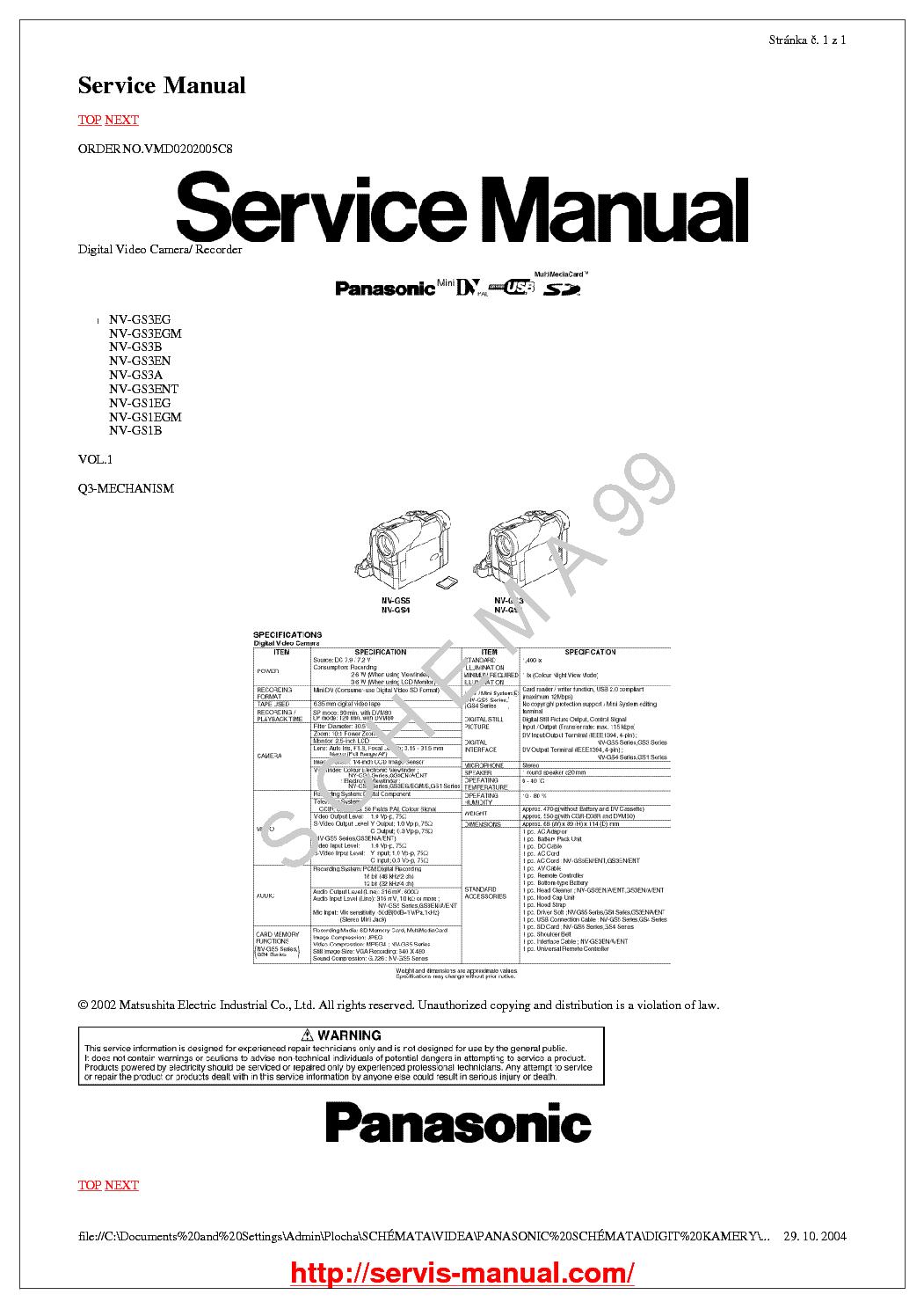 Panasonic Manual Download