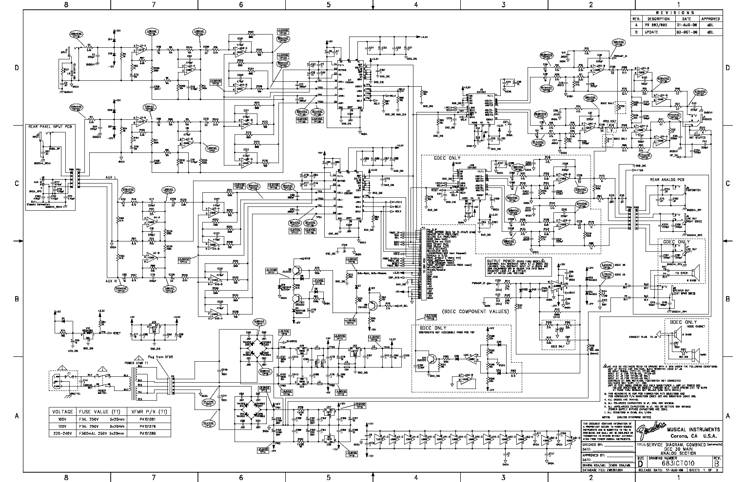 Fender G Dec 30 Schematics Service Manual Download