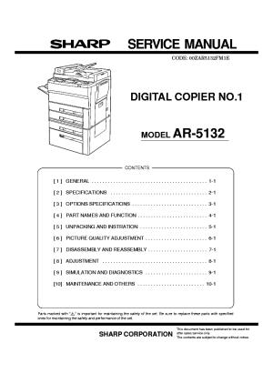 SHARP MXFN10 MXPNX5 MXRBX3 Service Manual free download