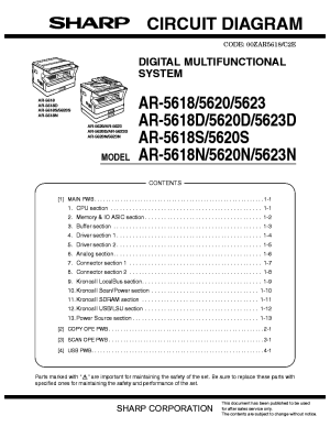 SHARP MXM550NU MXM620NU MXM700NU Service Manual free