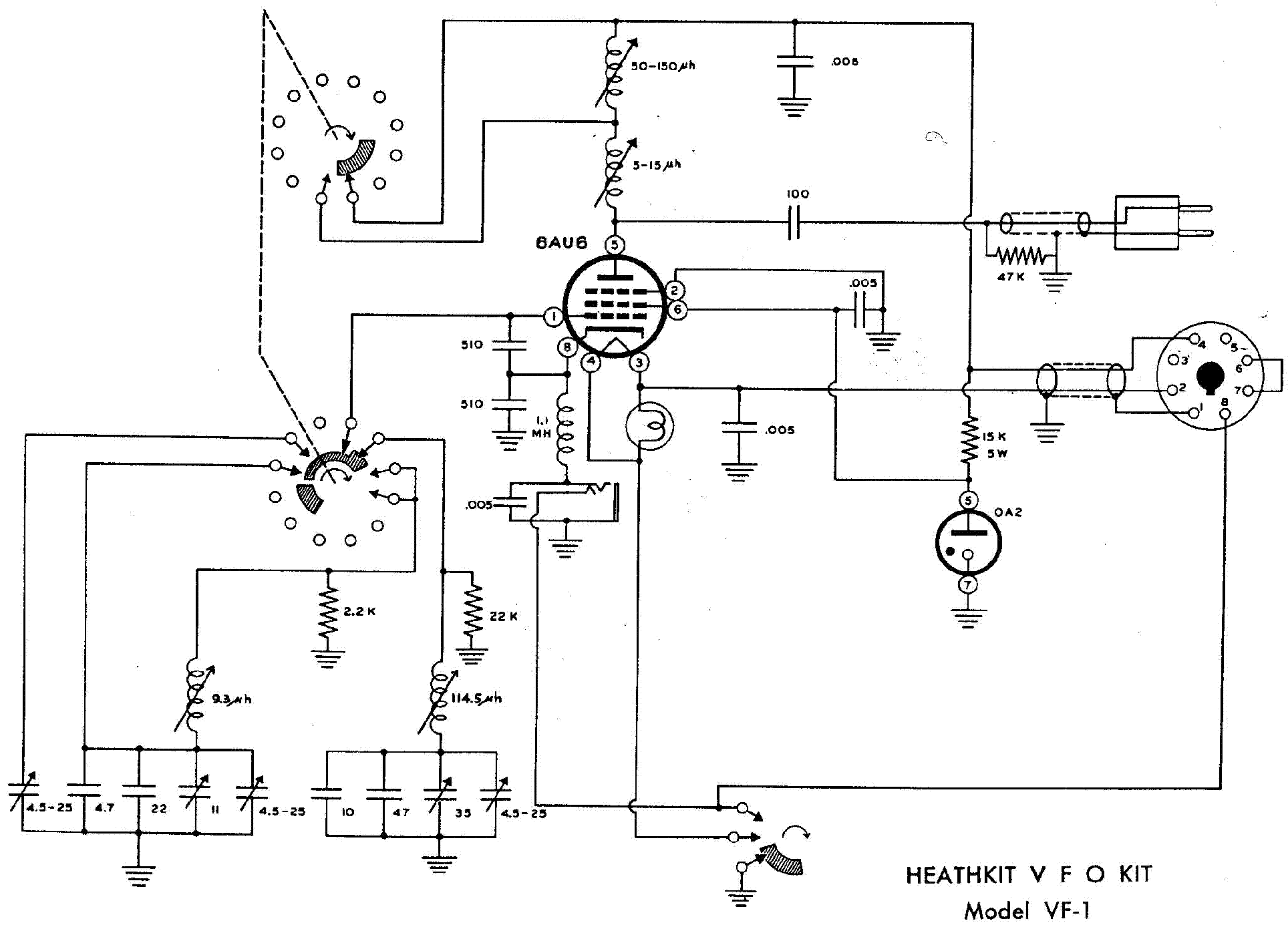 Heathkit Vf 1 Vfo Sm Service Manual Download Schematics