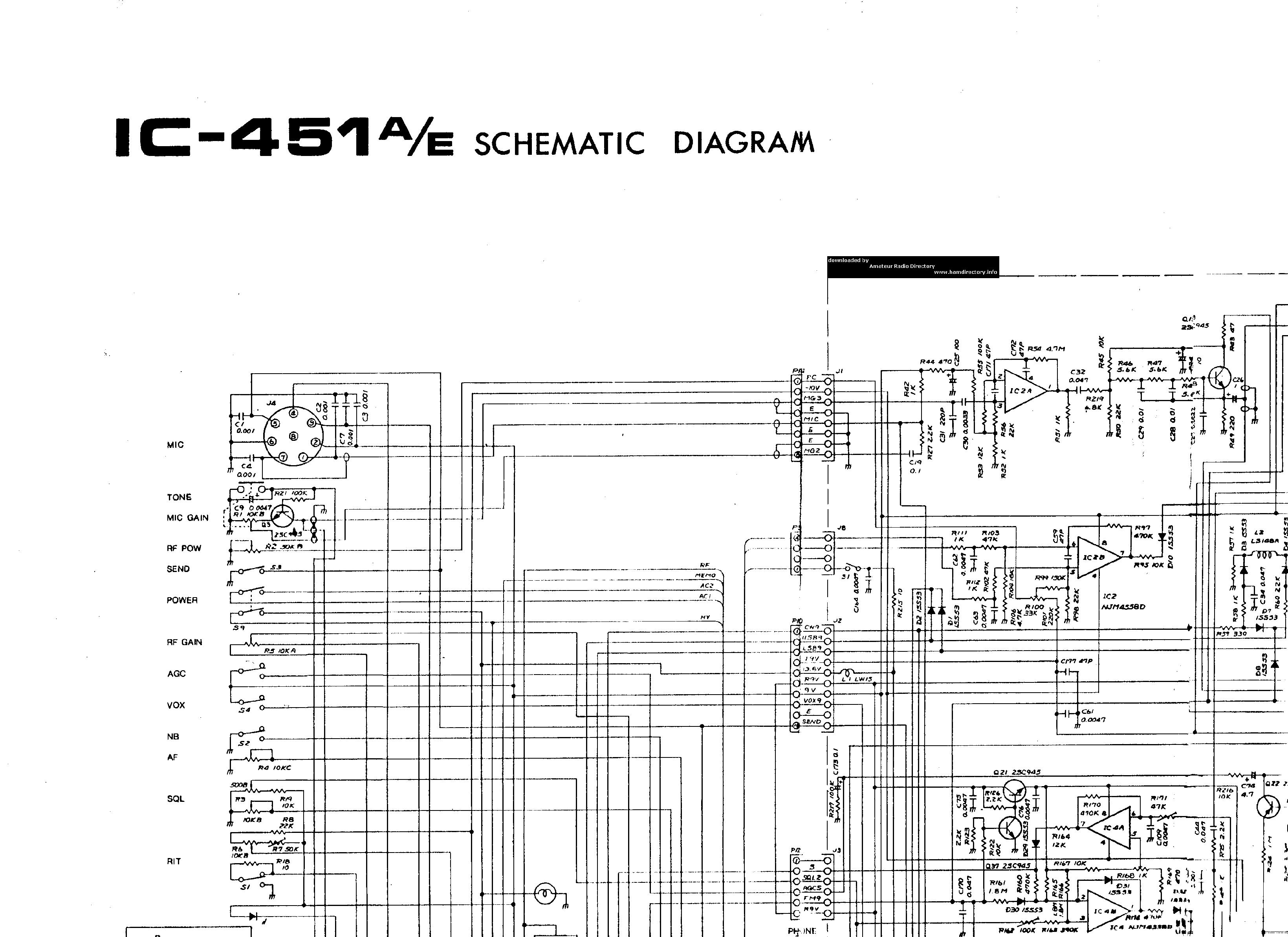 Icom Ic 451 Service Manual Download Schematics Eeprom