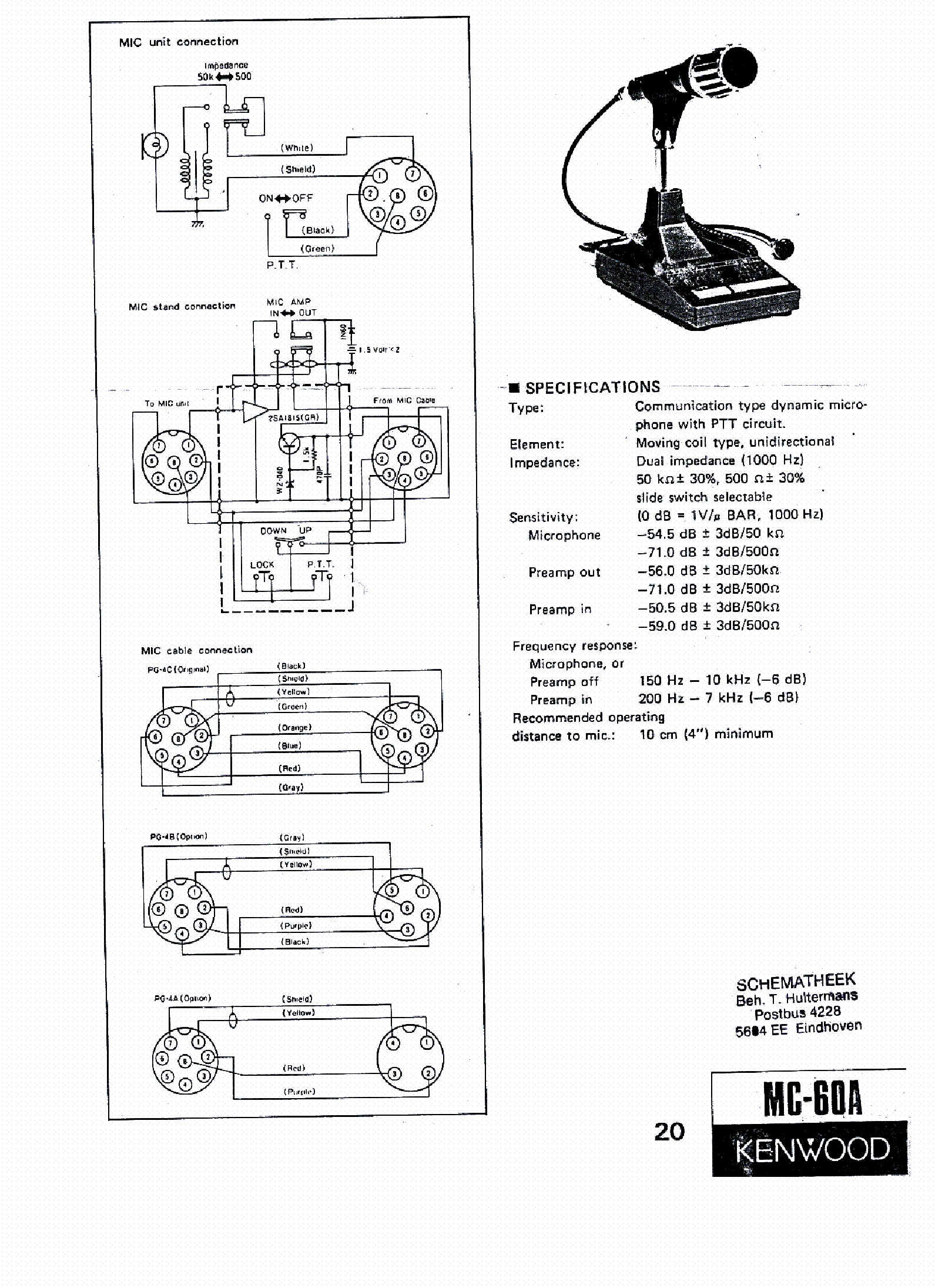 Kenwood Mc 60a Sch Service Manual Download Schematics Eeprom Repair Info For Electronics Experts