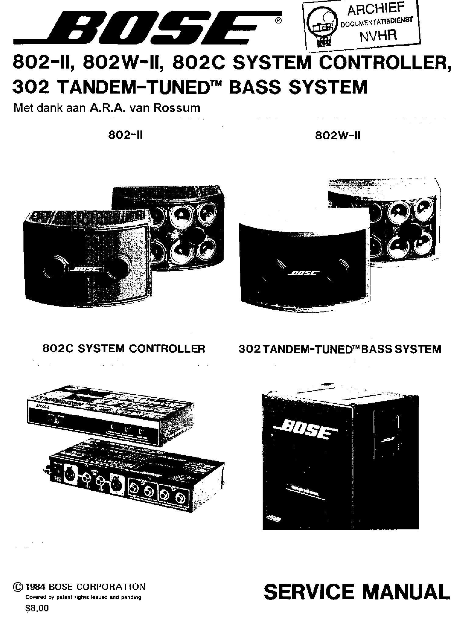 Bose 802 Ii 802w Ii 802c System Controller 302 Tandem