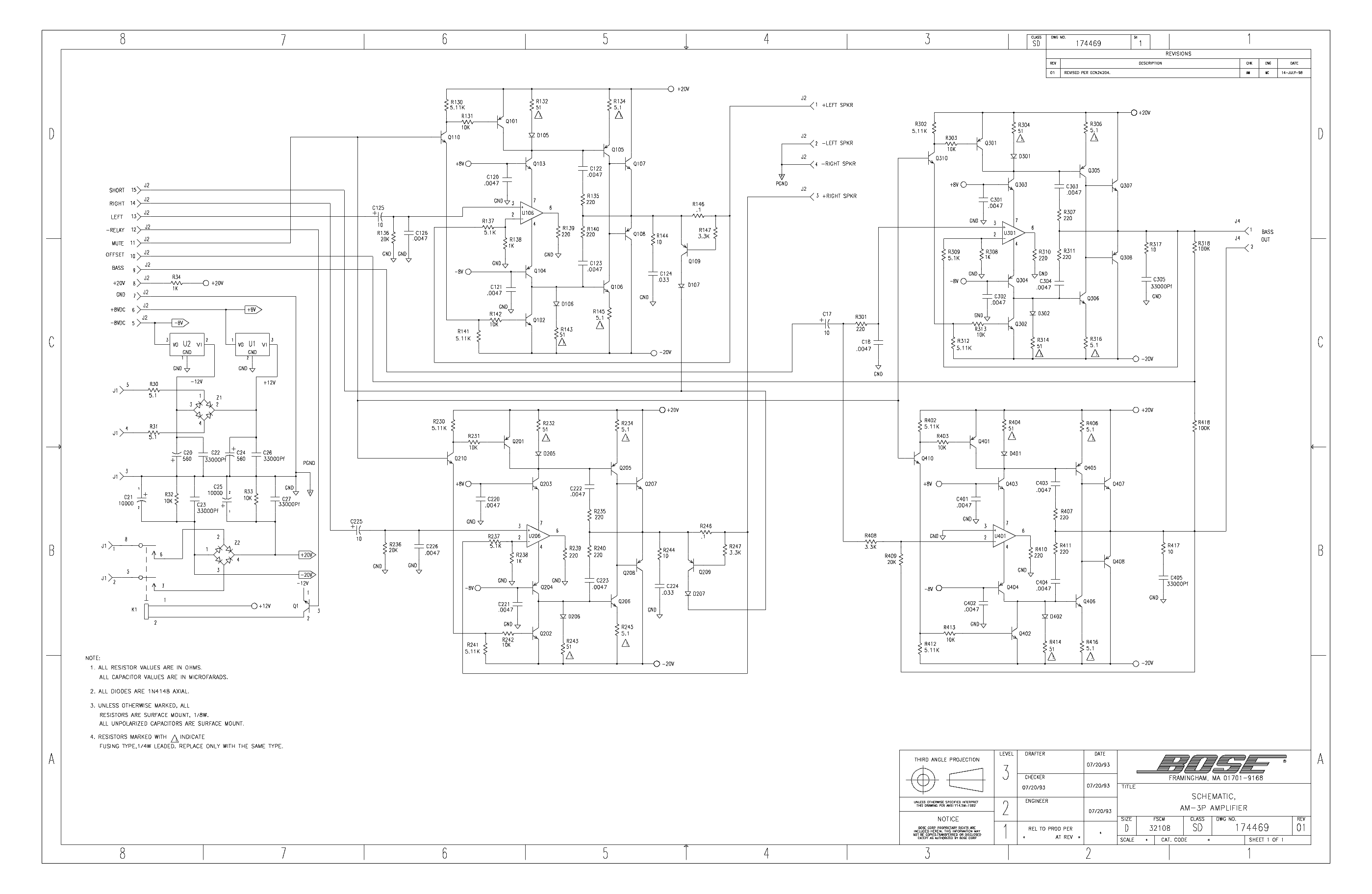 Bose 802c Service Manual Free Download Schematics Eeprom