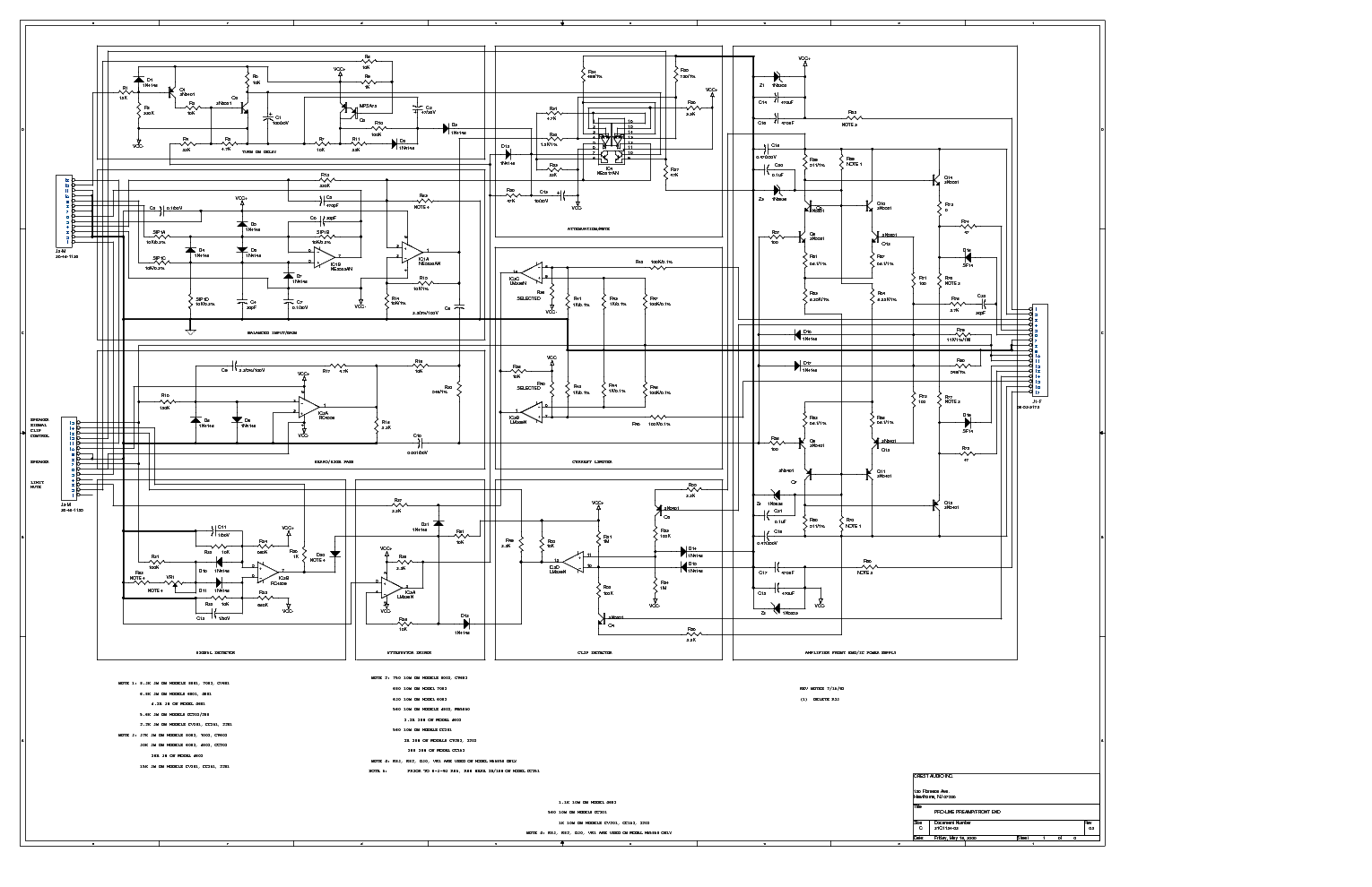 Crest Audio Schematic Diagrams