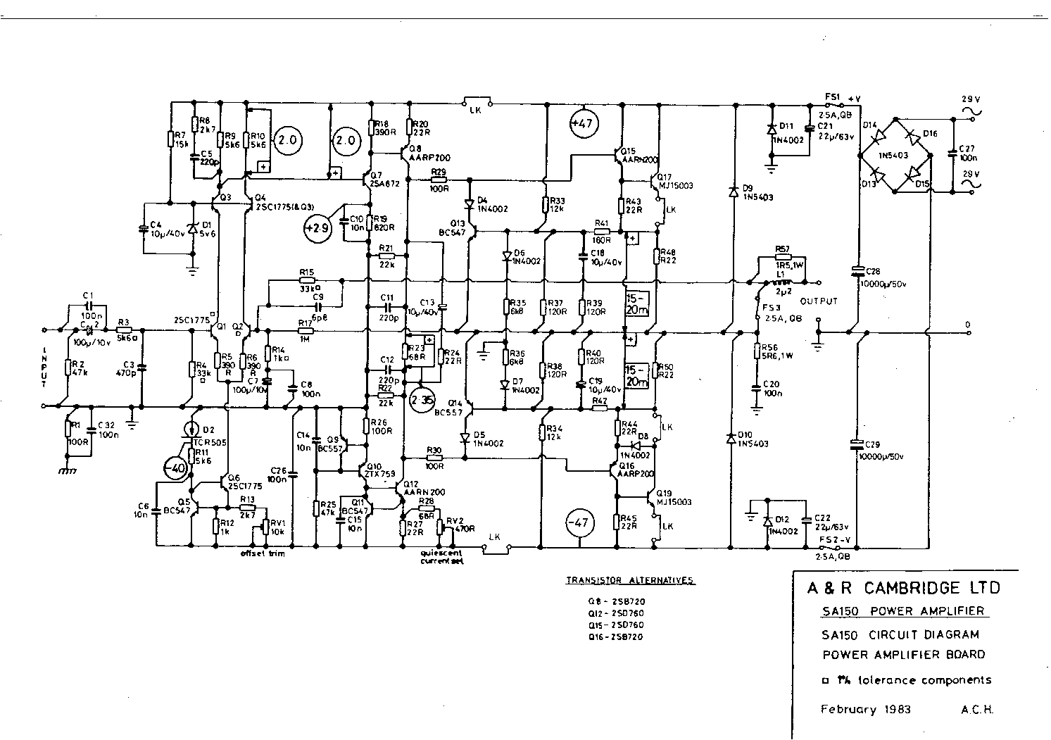 Arcam Alpha 9 Circuit Diagram