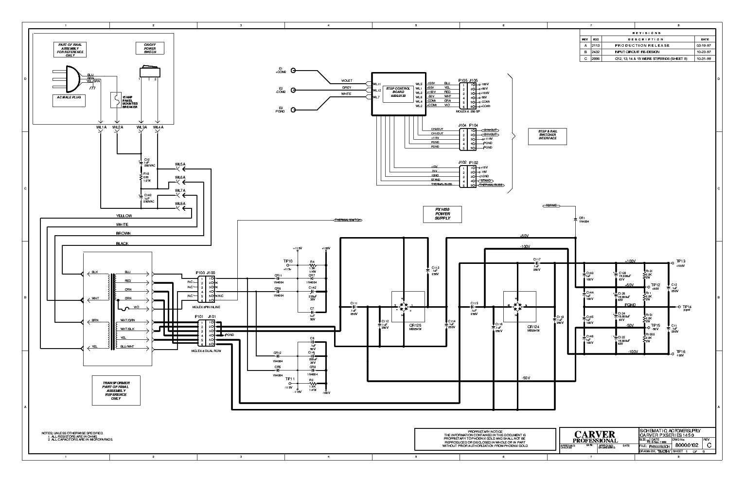 Carver Ct17 Sm Service Manual Download Schematics Eeprom