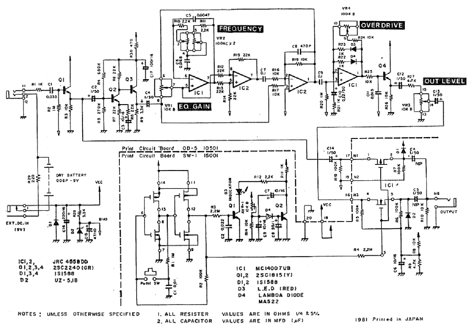 Wiring Diagrams Guitar Effects Pedals