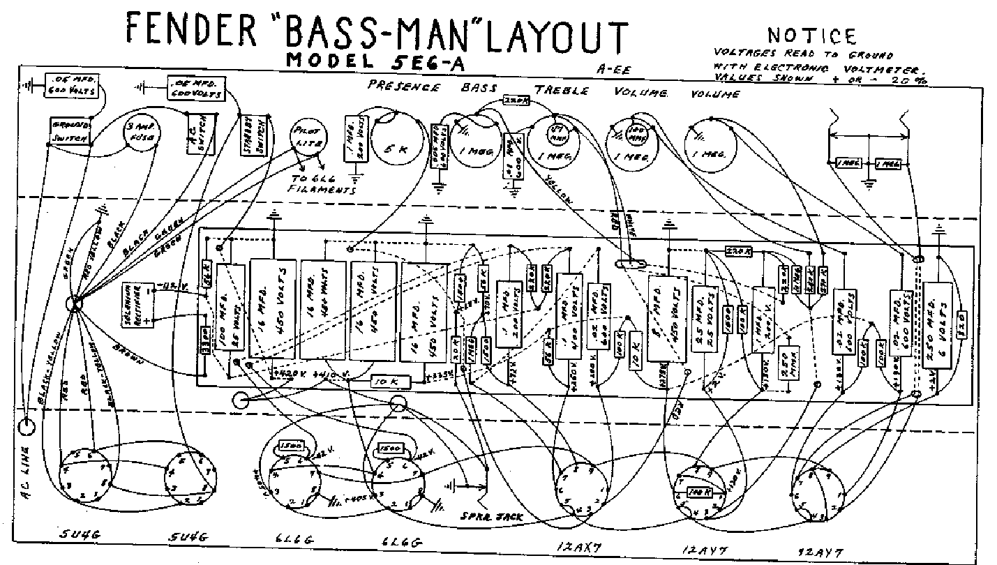 Schematic For Fender Bassman