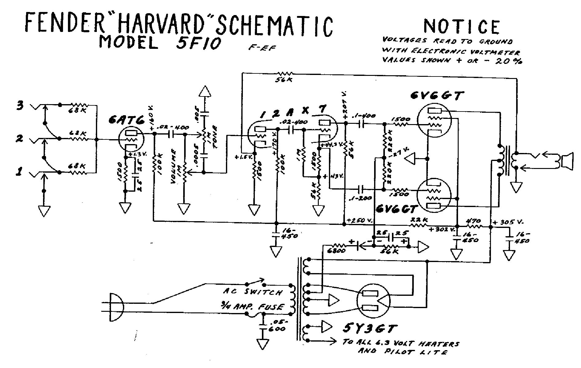 Fender Harvard 5f10 Service Manual Download Schematics
