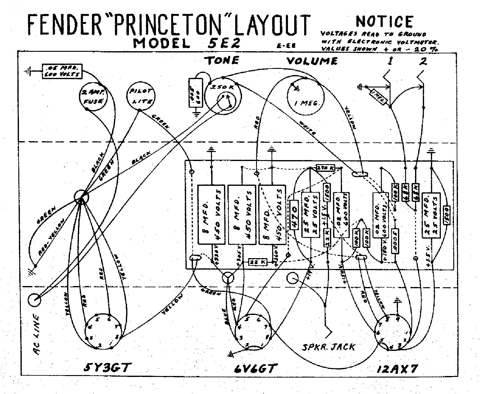 Fender Harvard 5f10 Schematic
