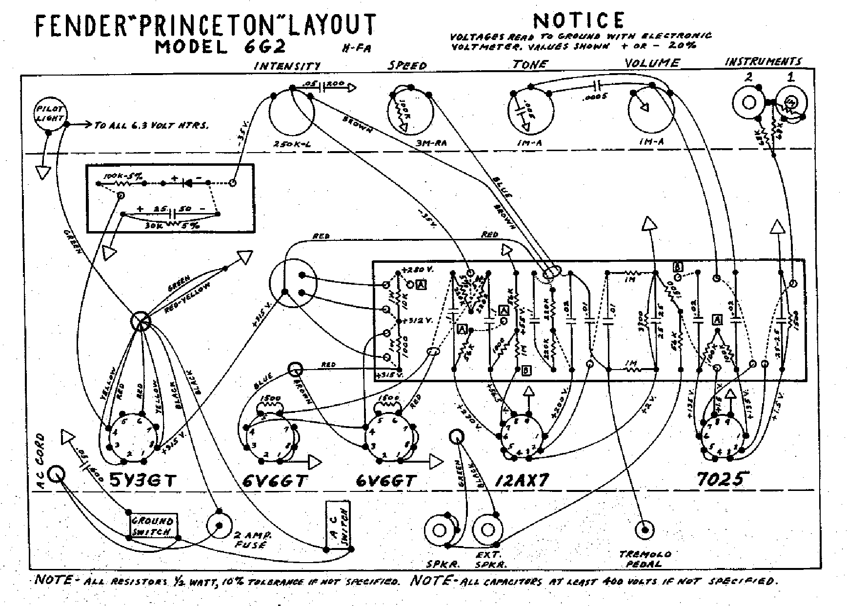 Fender Princeton 6g2 Layout Service Manual Download