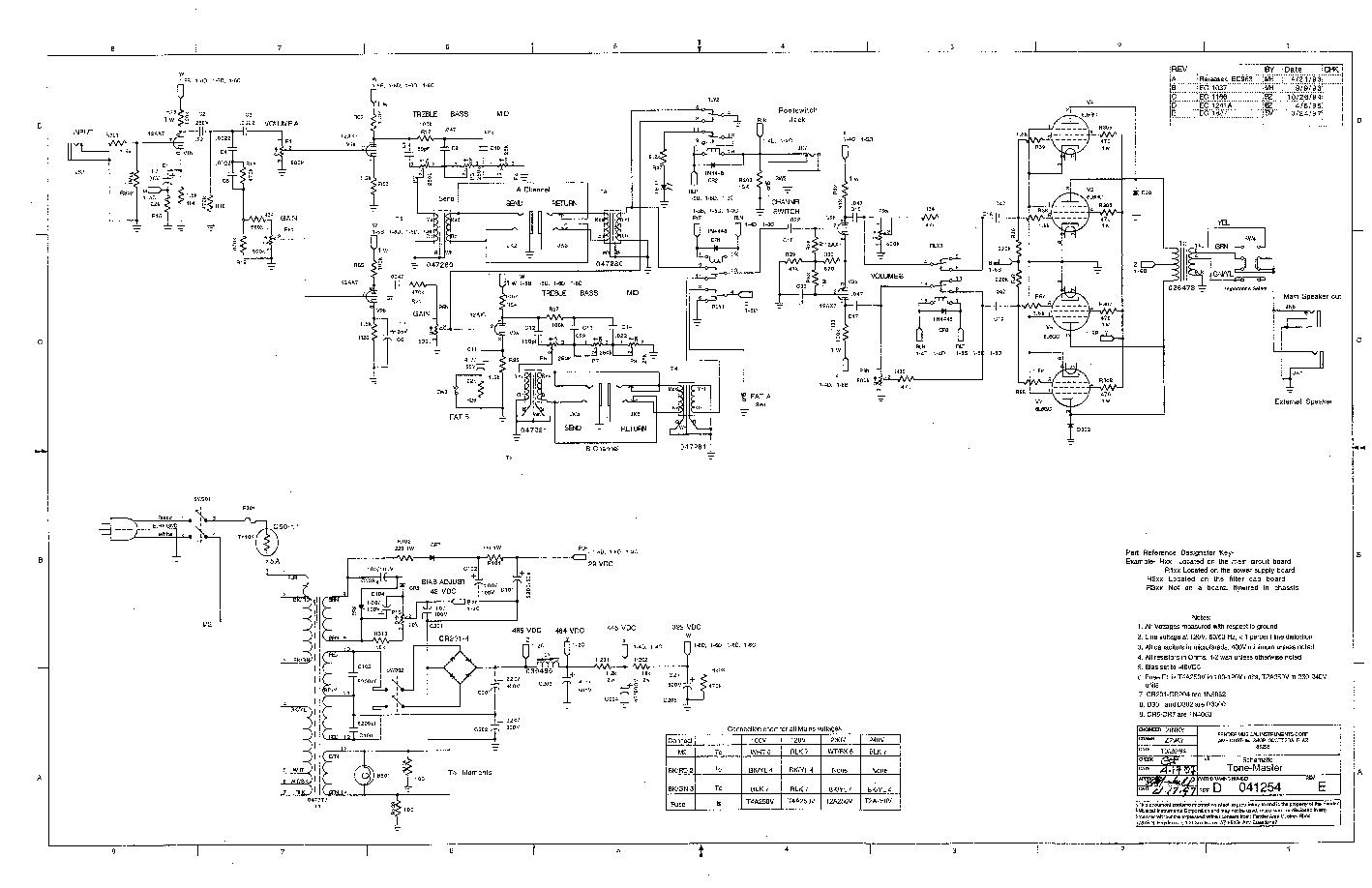 Fender Tone Stack Schematic