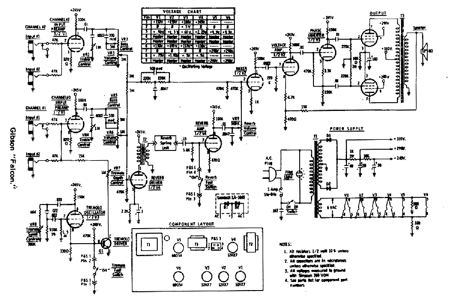 Gibson Ga 20 Schematic Service Manual Download Schematics