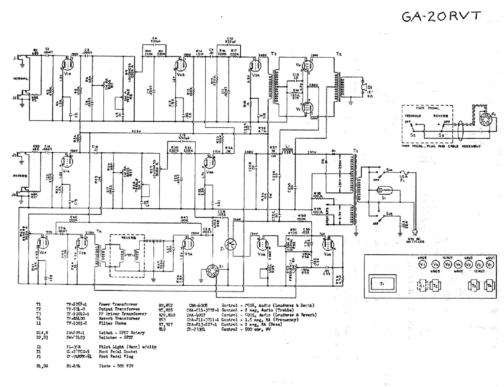 Gibson 50 Wiring Schematic