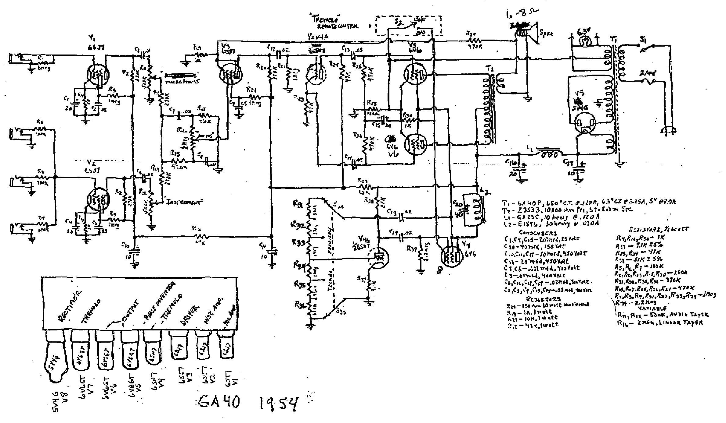 Gibson Ga 40 Service Manual Download Schematics Eeprom