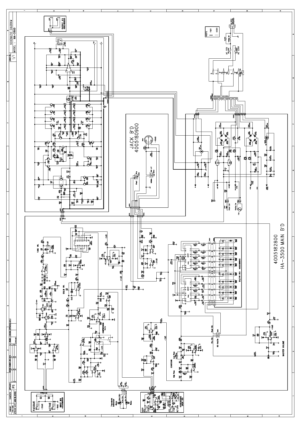 Samson Ha Sch Service Manual Download Schematics